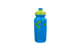 CUBE bottle 0,5l Logo lime/blue (Sales Unit 12)