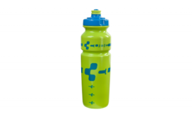 CUBE bottle 0,75l Logo blue/lime (Sales Unit 12)